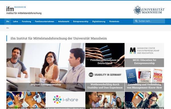 Vorschau von www.institut-fuer-mittelstandsforschung.de, Strukturanalyse Mittelstand (SAM) - Institut für Mittelstandsforschung der Universität Mannheim