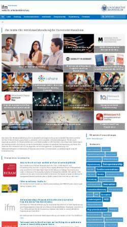 Vorschau der mobilen Webseite www.institut-fuer-mittelstandsforschung.de, Strukturanalyse Mittelstand (SAM) - Institut für Mittelstandsforschung der Universität Mannheim