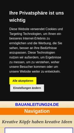 Vorschau der mobilen Webseite www.bauanleitung24.de, Bauanleitung24.de