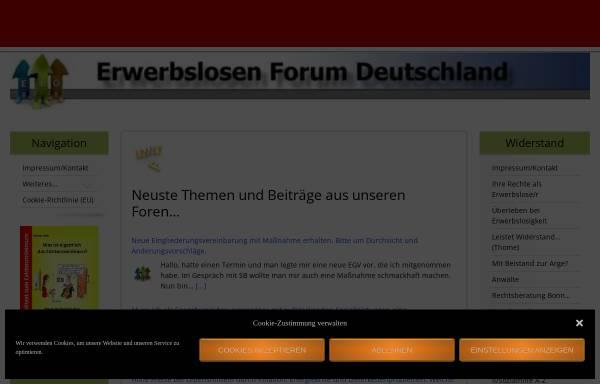 Vorschau von www.erwerbslosenforum.de, Erwerblosenforum