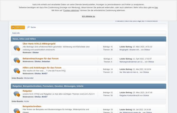 Vorschau von hartz.info, Hartz IV Forum