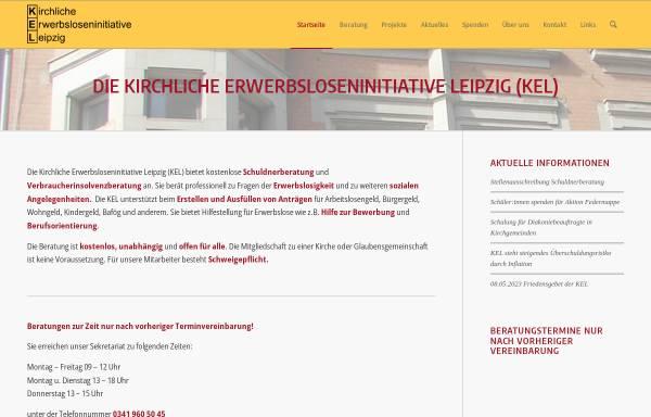 Vorschau von www.ke-leipzig.de, Kirchliche Erwerbsloseninitiative Leipzig