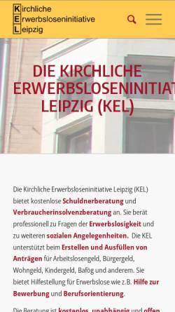 Vorschau der mobilen Webseite www.ke-leipzig.de, Kirchliche Erwerbsloseninitiative Leipzig