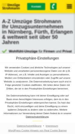 Vorschau der mobilen Webseite www.strohmann.com, Umzug.de
