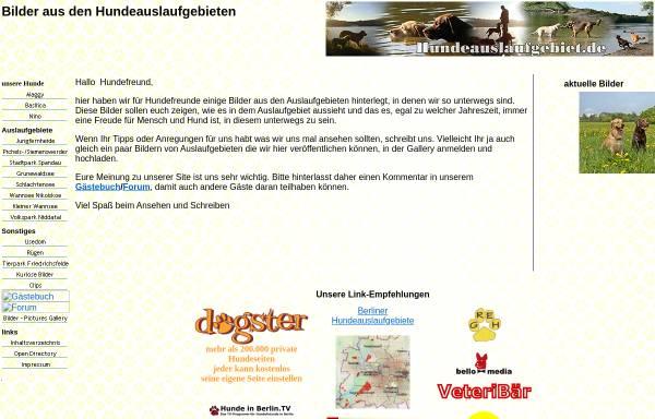 Vorschau von www.hundeauslaufgebiet.de, Hundeauslaufgebiet