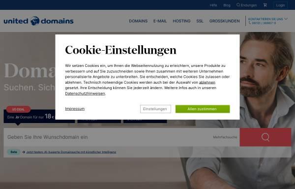 Vorschau von www.united-domains.de, United-Domains