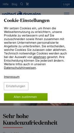 Vorschau der mobilen Webseite www.united-domains.de, United-Domains