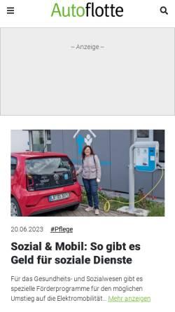 Vorschau der mobilen Webseite www.autoflotte.de, Autoflotte online