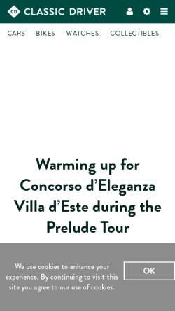 Vorschau der mobilen Webseite www.classicdriver.com, Classic Driver