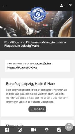 Vorschau der mobilen Webseite www.lips-flugdienst.de, Lips Flugdienst