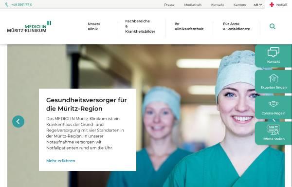 Vorschau von www.mueritz-klinikum.de, Müritz Klinikum GmbH