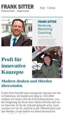 Vorschau der mobilen Webseite www.franksitter.de, Sitter, Frank