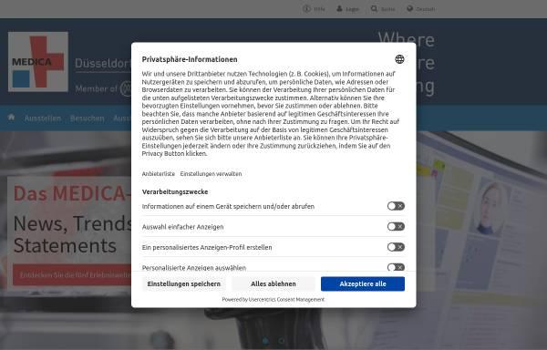 Vorschau von www.medica.de, Messe Düsseldorf GmbH