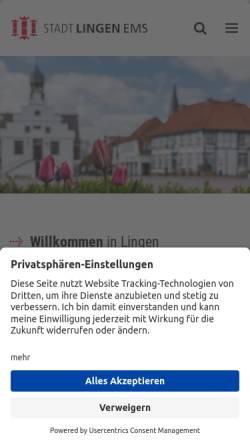 Vorschau der mobilen Webseite www.lingen.de, Stadt Lingen (Ems)