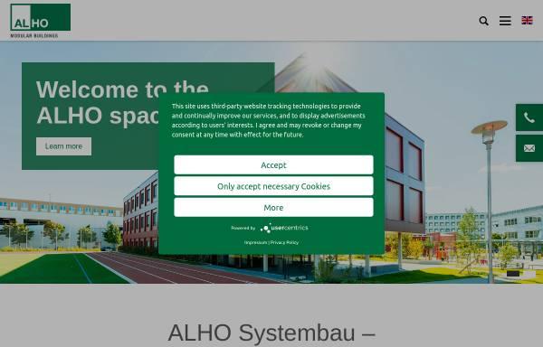 Vorschau von www.alho.com, Alho Systembau GmbH