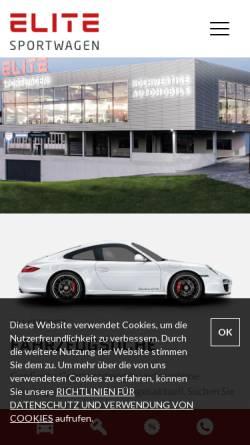 Vorschau der mobilen Webseite www.elite-sportwagen.ch, Elite Sportwagen