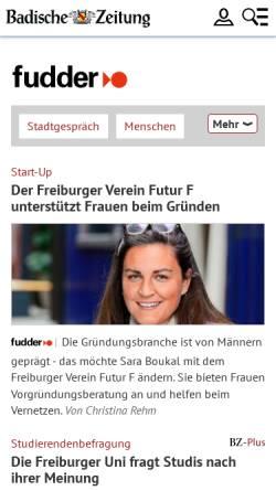 Vorschau der mobilen Webseite fudder.de, Fudder