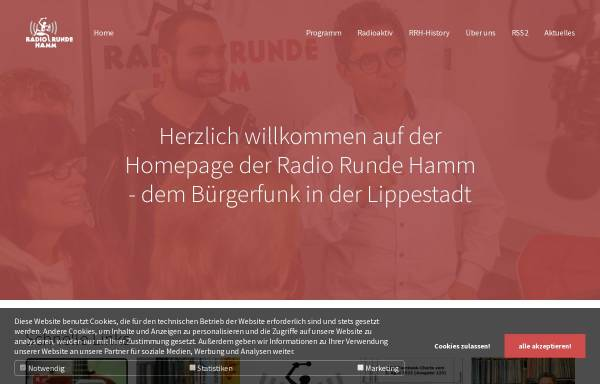Vorschau von www.radiorundehamm.de, Radio Runde Hamm