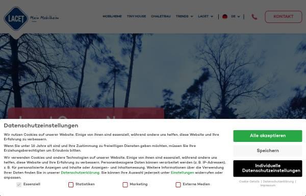 Vorschau von www.lacet-niederrhein.de, Lacet Niederrhein GmbH