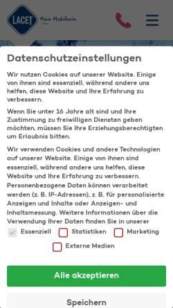 Vorschau der mobilen Webseite www.lacet-niederrhein.de, Lacet Niederrhein GmbH