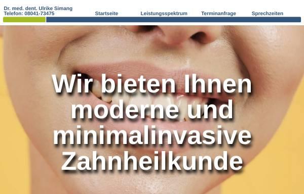 Vorschau von www.drsimang.de, Zahnarztpraxis Dr. med. dent. Ulrike Simang