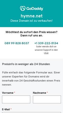 Vorschau der mobilen Webseite www.hymne.net, Thomas Jost's Hymnen und Flaggen Seiten