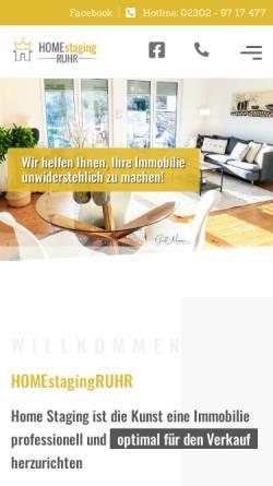 Vorschau der mobilen Webseite www.homestaging-ruhr.de, Knoop, Wiebke