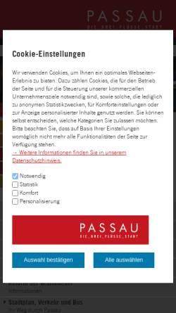 Vorschau der mobilen Webseite www.passau.de, Passau