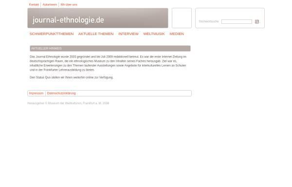 Vorschau von journal-ethnologie.de, Journal Ethnologie