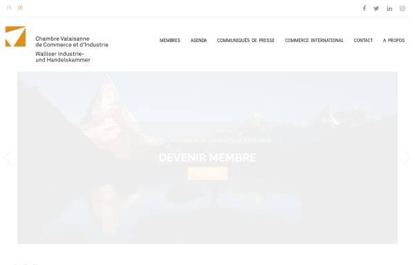 Vorschau von www.cci-valais.ch, Walliser Industrie- und Handelskammer