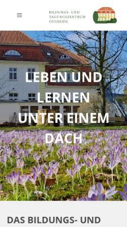 Vorschau der mobilen Webseite www.bto-barendorf.de, Bildungs- und Tagungszentrums Ostheide