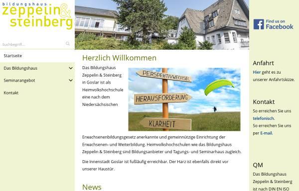 Vorschau von www.bhz-steinberg.de, Bildungshaus Zeppelin
