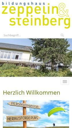 Vorschau der mobilen Webseite www.bildungshaus-zeppelin.de, Bildungshaus Zeppelin