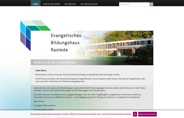 Vorschau von www.hvhs.de, Evangelische Heimvolkshochschule Rastede