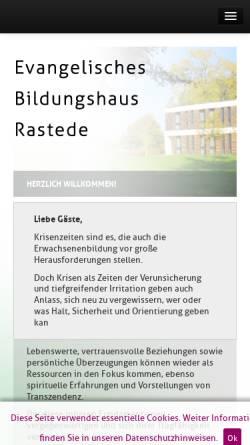 Vorschau der mobilen Webseite www.hvhs.de, Evangelische Heimvolkshochschule Rastede