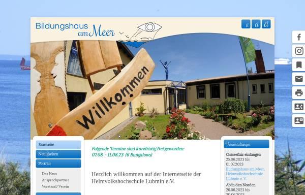 Vorschau von www.heimvolkshochschule.de, Heimvolkshochschule Lubmin e.V.