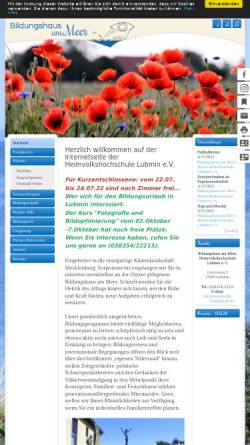 Vorschau der mobilen Webseite www.heimvolkshochschule.de, Heimvolkshochschule Lubmin e.V.