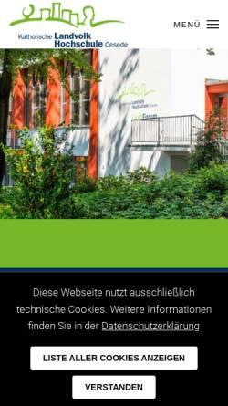 Vorschau der mobilen Webseite www.klvhs.de, Katholische LandvolkHochschule Oesede