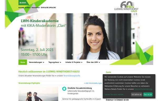 Vorschau von www.lwh.de, Ludwig-Windthorst-Haus Lingen