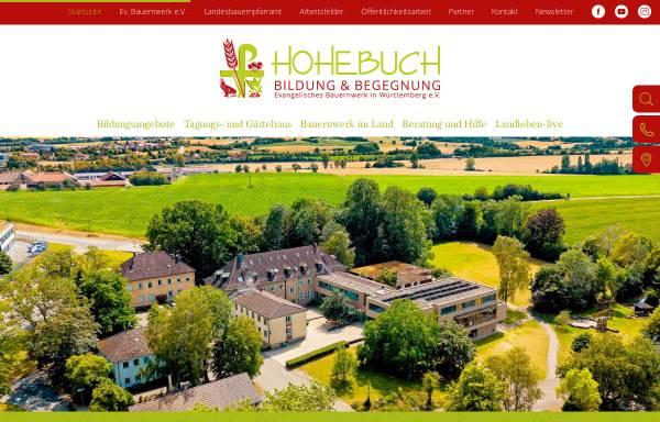 Vorschau von www.hohebuch.de, Ländliche Heimvolkshochschule und Evangelische Bauernschule Hohebuch