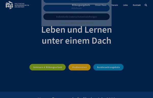 Vorschau von www.pbh-hvhs.de, Politische Bildungsstätte Helmstedt