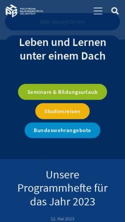 Vorschau der mobilen Webseite www.pbh-hvhs.de, Politische Bildungsstätte Helmstedt