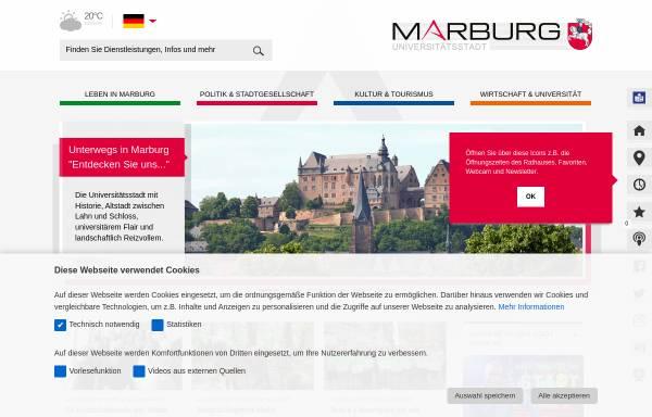 Vorschau von www.marburg.de, Universitätsstadt Marburg