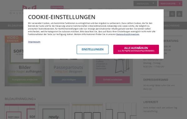 Vorschau von www.galeriebedarf.de, ASP-Galeriebedarf GmbH