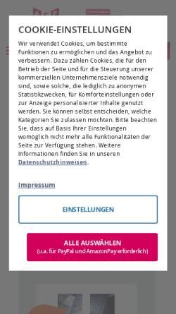 Vorschau der mobilen Webseite www.galeriebedarf.de, ASP-Galeriebedarf GmbH