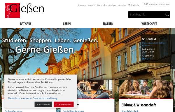 Vorschau von www.giessen.de, Universitätsstadt Gießen