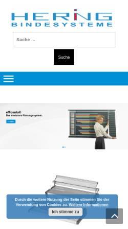 Vorschau der mobilen Webseite www.hering-orga.de, Hering Organisationsmittel Gronig