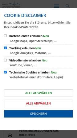 Vorschau der mobilen Webseite www.oberursel.de, Stadt Oberursel (Taunus)