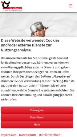 Vorschau der mobilen Webseite www.ochsenhausen.de, Stadt Ochsenhausen