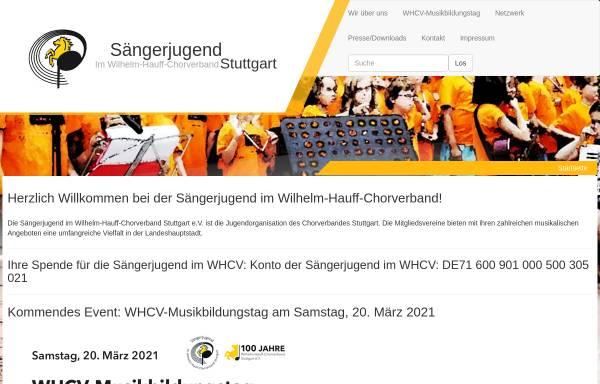 Vorschau von www.saengerjugend-stuttgart.de, Homepage der Sängerjugend Stuttgart